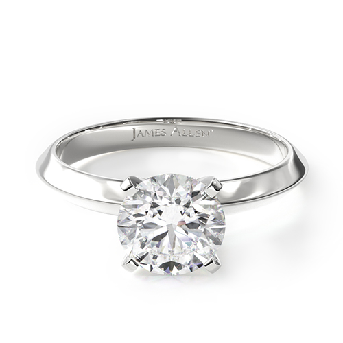 most popular engagement rings:  white gold solitaire engagement ring