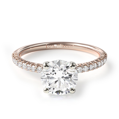 most popular engagement rings: rose gold pave engagement ring