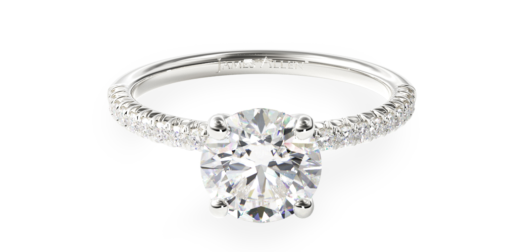How to wear a wedding ring - petite pave engagement ring