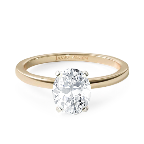 yellow gold solitaire oval engagement ring