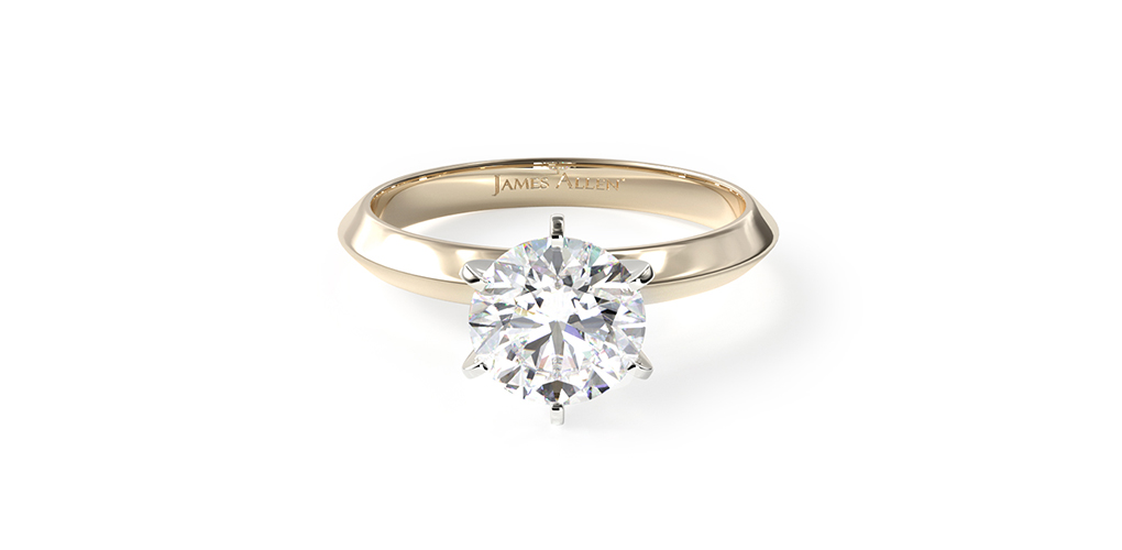 Presentation Solitaire Engagement Ring with a lab-grown diamond