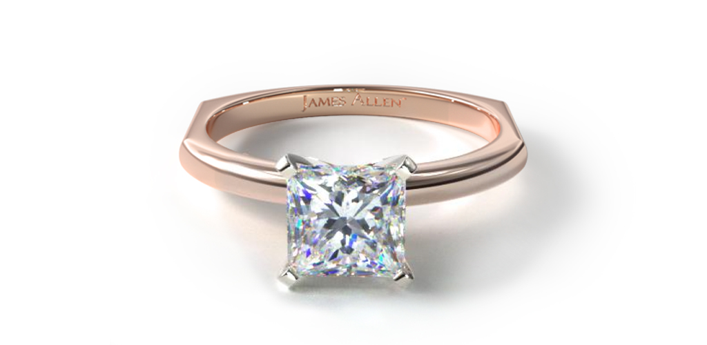 14K Rose Gold Perfect Fit Solitaire Engagement Ring