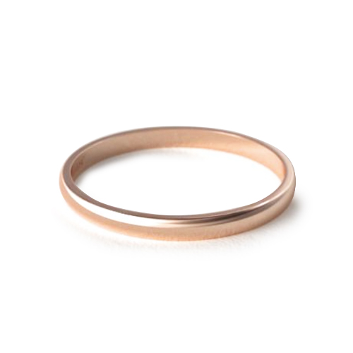 How to wear a wedding ring - rose gold classic wedding ring