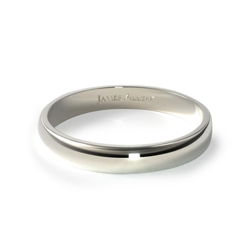 How to wear a wedding ring - white gold classic wedding ring