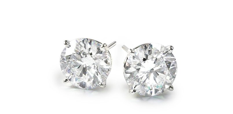 diamond-stud-earrings-classic-round-cut-four-prong-earring-settings