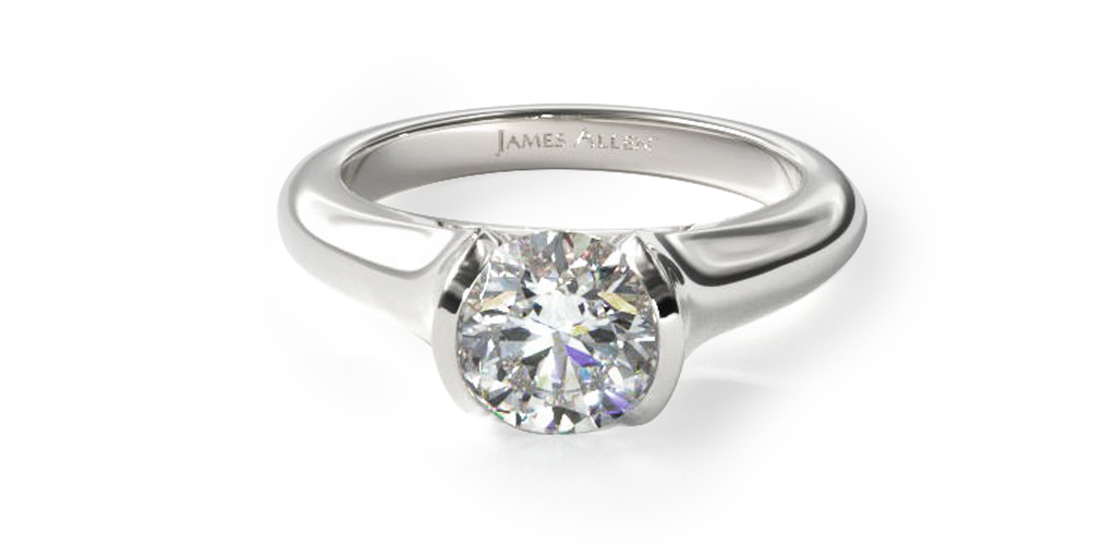 tapered-half-bezel-engagement-ring