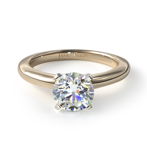14K vs. 18K gold - 18K Yellow Gold Comfort Fit Solitaire Engagement Ring