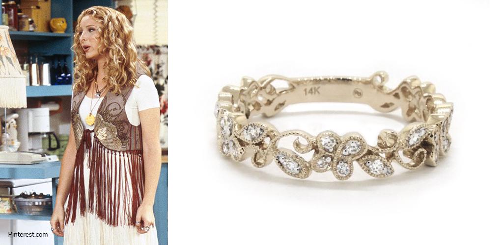 Phoebe Buffay - Vine Motif Diamond Ring
