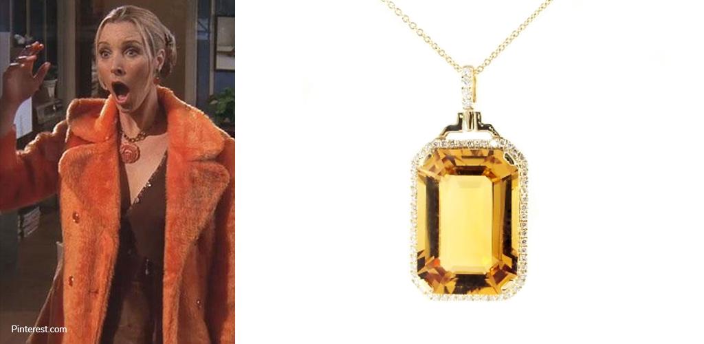 The Orange Coat - Phoebe with Emerald-Cut Citrine Necklace