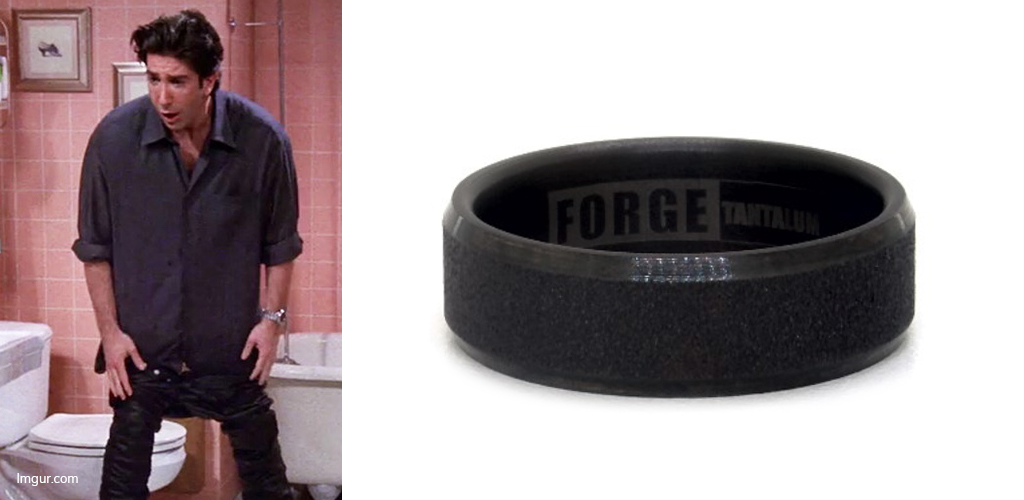 The Leather Pants - Ross Geller with Tantalum Men's Wedding Ring