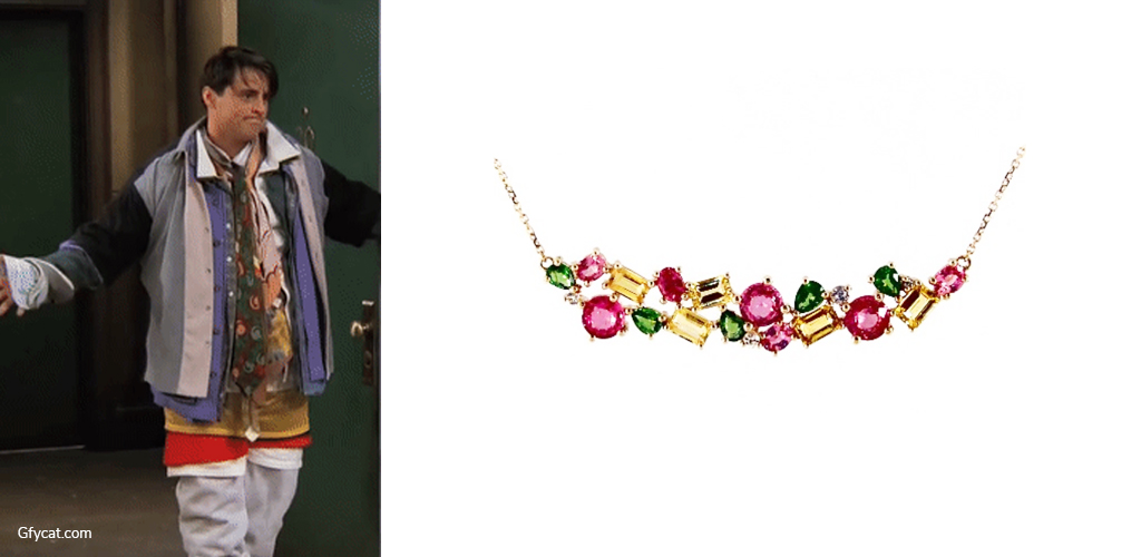 All The Clothes - Joey Tribbiani with Multi Sapphire Necklace