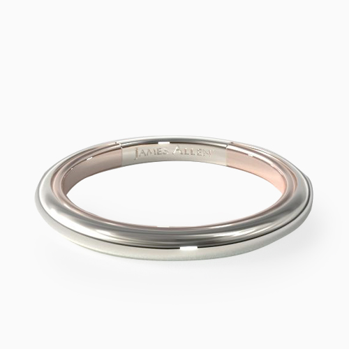 14K Gold Two-Tone 1.8mm Comfort-Fit Wedding Band
