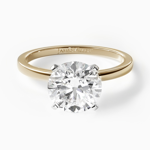 14K Yellow Gold 1.5mm Comfort Fit Engagement Ring