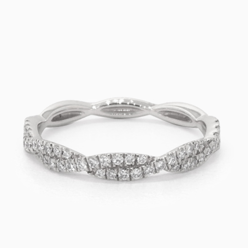 14K White Gold Petite Infinity Diamond Ring