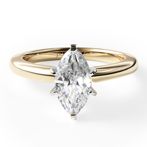 14K Yellow Gold 2mm Comfort Fit Solitaire Engagement Ring (Six Prong)