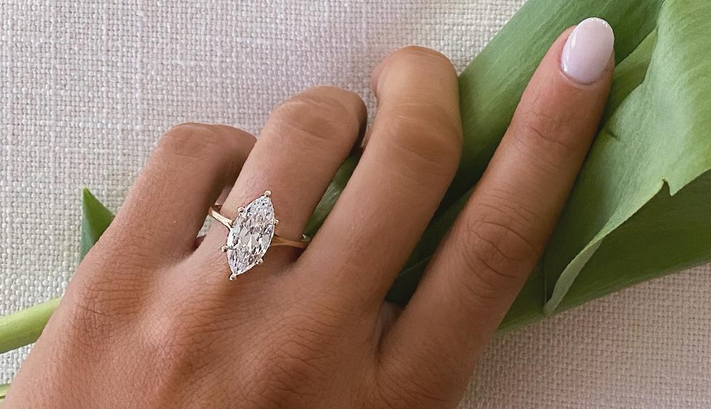 Fancy diamond engagement ring