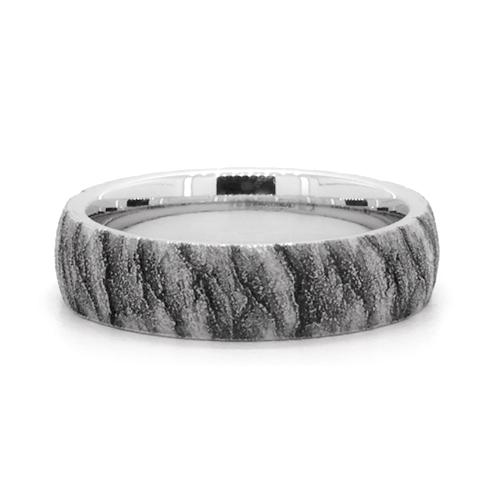 Cobalt Lava Pattern 6mm Comfort Fit Ring
