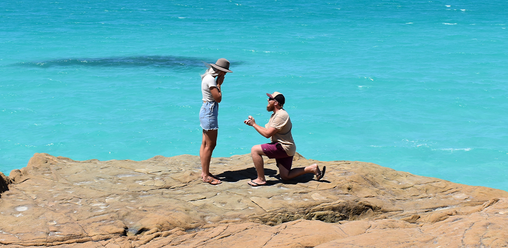 Summer Proposal In Greece At The Ocean Side