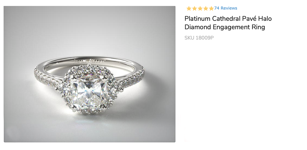 Platinum Cathedral Pave Halo Diamond Engagement Ring