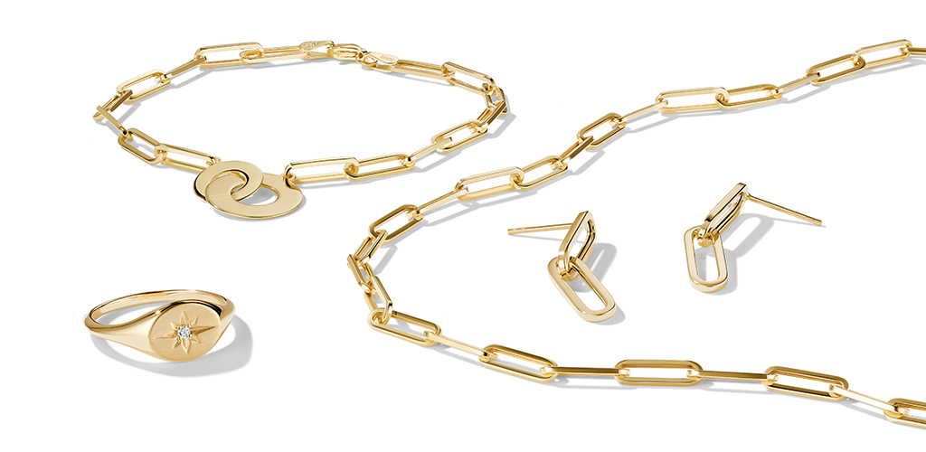 A collection of fine jewelry, from earrings and bracelets to necklaces.