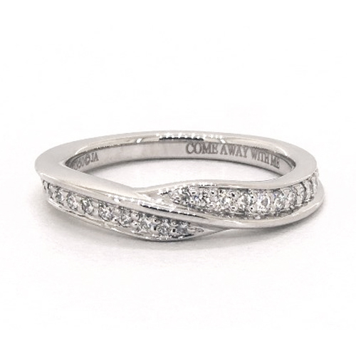 Platinum Perfectly Matched Pavé Bypass Wedding Ring