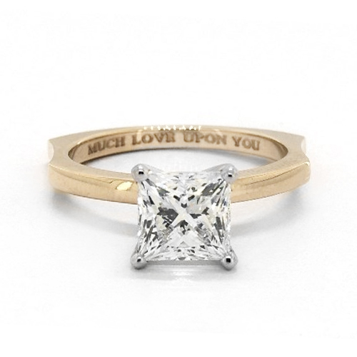 14K Yellow Gold Perfect Fit Solitaire Engagement Ring
