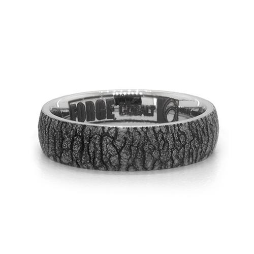 Cobalt Bark Pattern 6mm Comfort Fit Ring