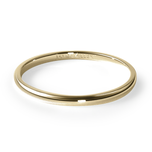 14K Yellow Gold 2.0mm Traditional Slightly Curved Wedding Ring